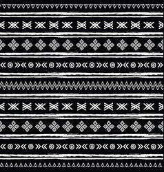 tribal black and white seamless repeat pattern vector image