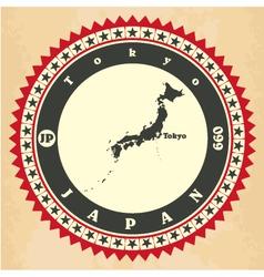 vintage label-sticker cards japan vector image