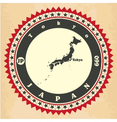 Vintage label-sticker cards of Japan vector image