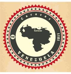 Vintage label-sticker cards of Venezuela vector image