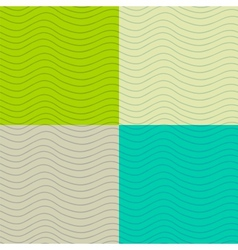 Wavy seamless patterns set vector