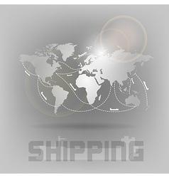 World shipping vector