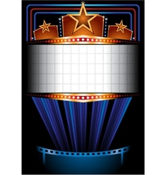 Cinema poster vector image vector image
