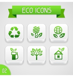 Collection of apps icons with eco elements Set 2 vector image