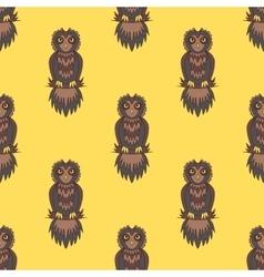 cute owl seamless vector image vector image