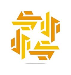 design trapeziodal shuriken orange symbol vector image vector image