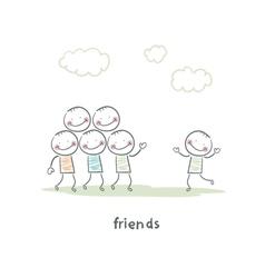 Friends vector image vector image