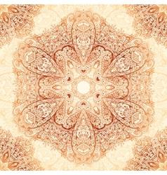 Ornate vintage seamless pattern in mehndi style vector image