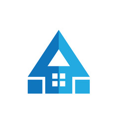 roof home triangle arrow logo vector image vector image