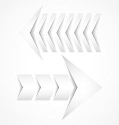 Two white arrows concept designs vector image vector image