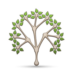 Abstract tree icon vector image vector image