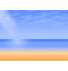 background empty sea beach vector image vector image