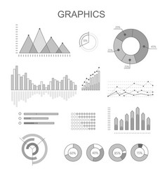 black and white graphics poster with diagrams vector image vector image