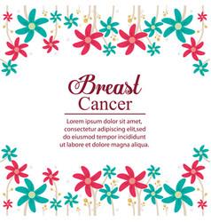 breaster cancer card celebration vector image