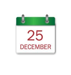 Christmas day green icon vector