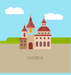 colored church building vector image