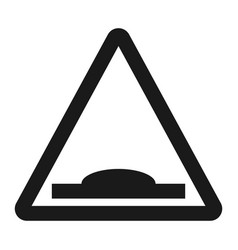 hump sign line icon vector image vector image