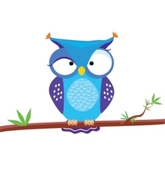 owl funny vector image vector image