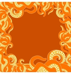 Tentacles frame with copy space vector image vector image