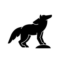 wolf icon sign on isolate vector image