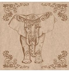 Elephant brown vector
