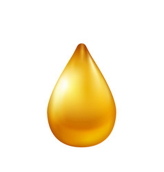 oil drop isolated on white background vector image