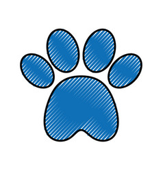 paw footprint mascot isolated icon vector image vector image