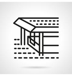 Pier black line design icon vector