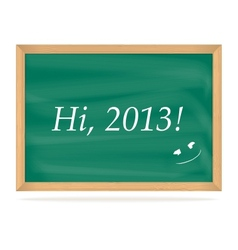 School Board with number of new year 2013 vector image vector image