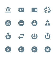 solid grey various financial banking icons set vector image vector image