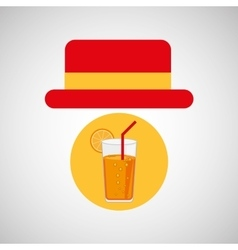 travel tourist hat concept cocktail drink vector image vector image