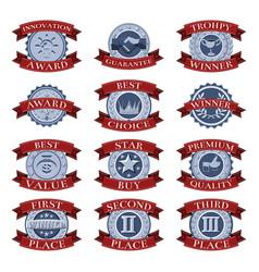 victory reward shields vector image