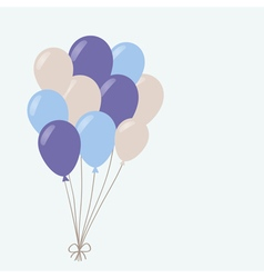 a bunch of balloons vector image