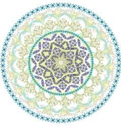 abstract circular pattern of mandala vector image
