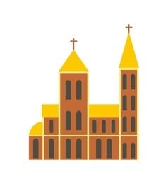 Catholic church flat icon vector image