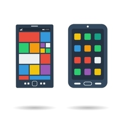 Flat two smart phones icons vector image