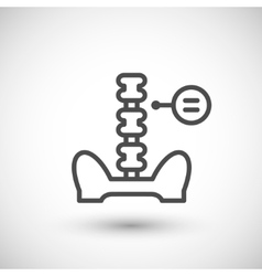 Human spine line icon vector image