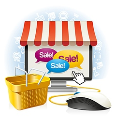 Internet Shop vector image