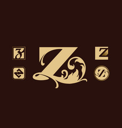 logo set with letter z vector image