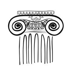 Ancient greek column vector