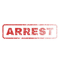 arrest rubber stamp vector image