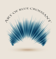 art of blue croissant background vector image