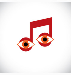 Art of musical note created with human eyes vector