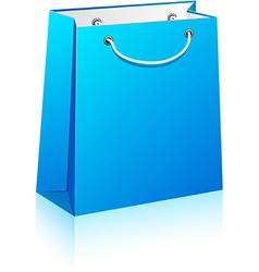 Blue shopping bag vector image