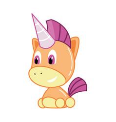 children toy little unicorn kid development and vector image