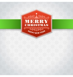 Christmas label or invitation card background vector image