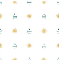 christmas seamless symmetrical pattern of vector image