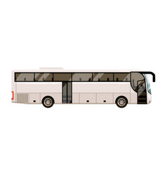 city bus for transportation on white background vector image