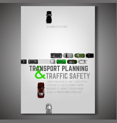 City traffic poster vector