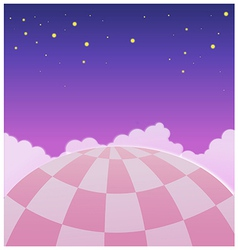 Close-up of Hot Air Balloon in Sky vector image